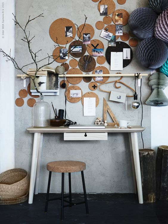 die wohngalerie kork berall eine karriere vom untersetzer zur pinnwand. Black Bedroom Furniture Sets. Home Design Ideas