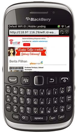 cara menggunakan wifi di hp blackberry