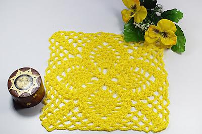 3-Crochet Cuadro de puntos de piñas Majovel Crochet ganchillo.