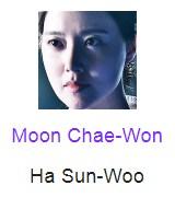 Moon Chae-Won berperan sebagai Ha Sun-Woo