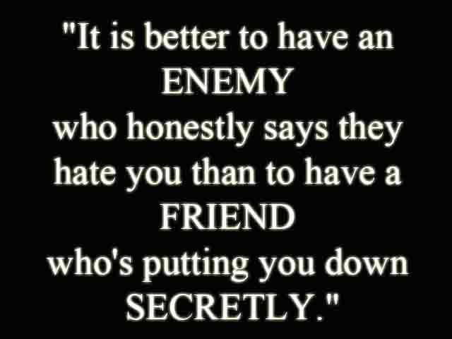 Un-Sentenced For Life: Quote About Friends And Enemies