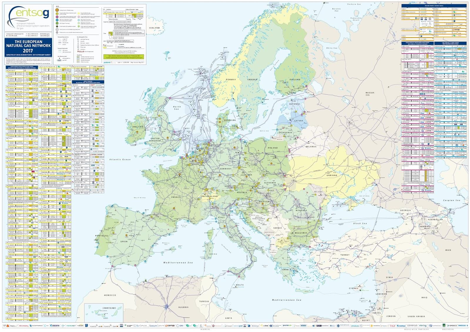 The European Natural Gas Network (2017)