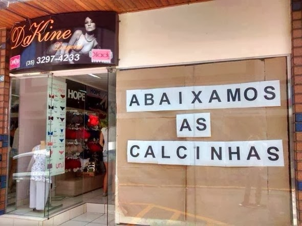 abaixamos as calcinhas