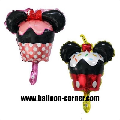 Balon Foil Cake Mickey Mouse & Minnie Mouse Mini