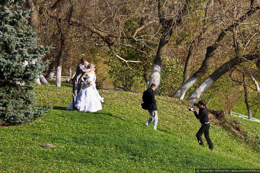 Свадебная фотосессия, вид сбоку