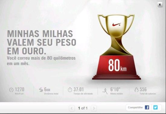 5eba5167018 Site Nikeplus.com premiando o esforço do corredor