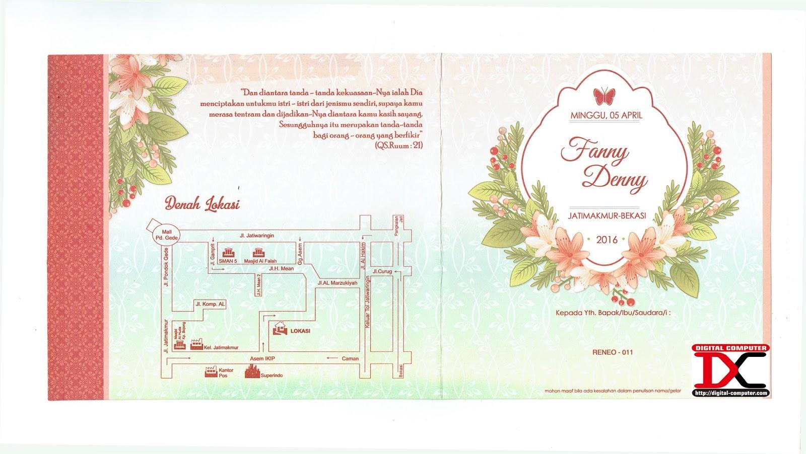 undangan pernikahan harga 2000an rupiah