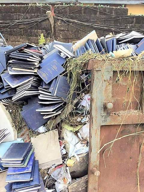 University students projects thrown to dustbin