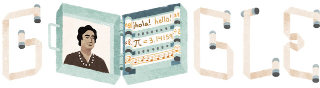 Ángela Ruiz Robles's 121st Birthday - Google Doodle