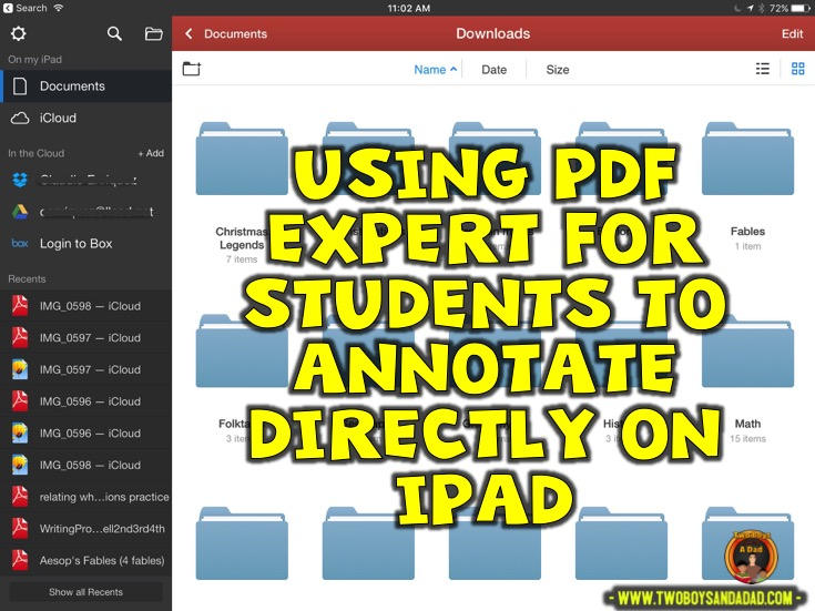 Using PDF Expert in guided reading