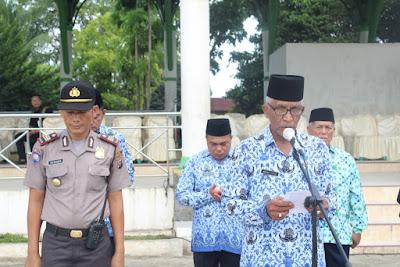 Kakankemenag Tanjungbalai Pimpin Doa Upacara HARKITNAS