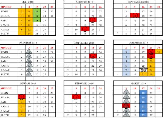 Download Kalender Pendidikan Tahun Pelajaran 2018/2019