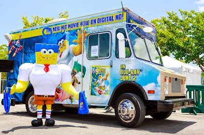 SpongeBob SquarePants Truck - The Sponge Out of Water Tour in Tampa Today (5/21)
