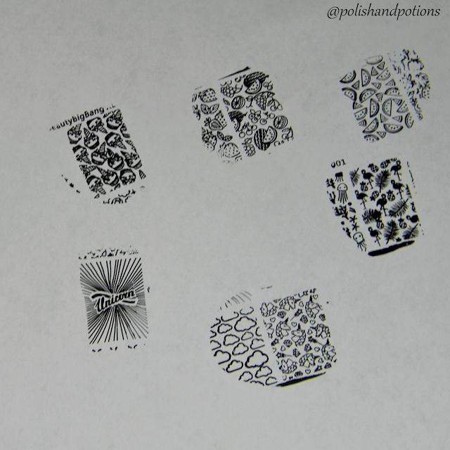 Stamping test with Beauty Bigbang 002 Black  stamping polish