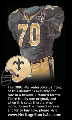 New Orleans Saints 1996 uniform