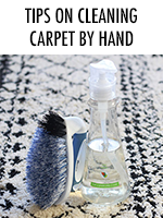 How to clean rugs by hand