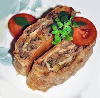 рулет из кабачков с мясом