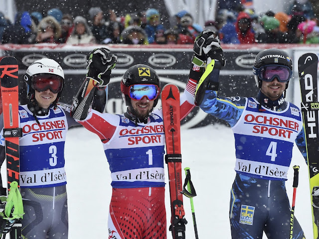 Marcel Hirscher Wins World Cup GS in Val d Isère