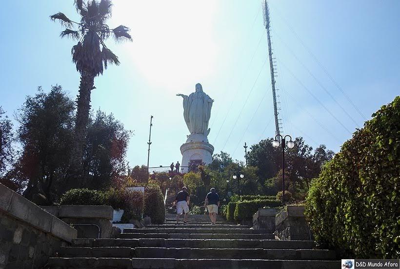 Santuário Imaculada Conceição no Cerro San Cristóbal em Santiago  -Diário de Bordo Chile: 8 dias em Santiago e arredores
