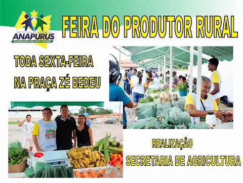 Atenção consumidor! Hoje é dia da feirinha do produtor rural na Praça Zé Bedeu em Anapurus produtos fresquinhos abaixo do preço de marcado, venha conferir.