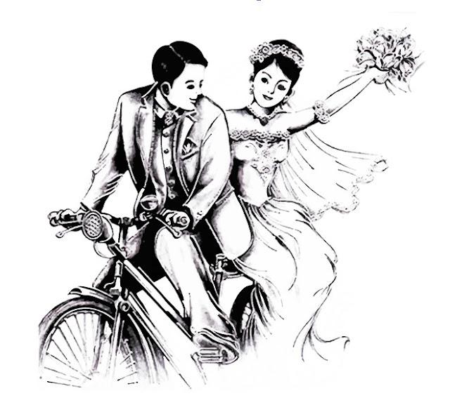 koleksi clipart pasangan pernikahan (Couple)