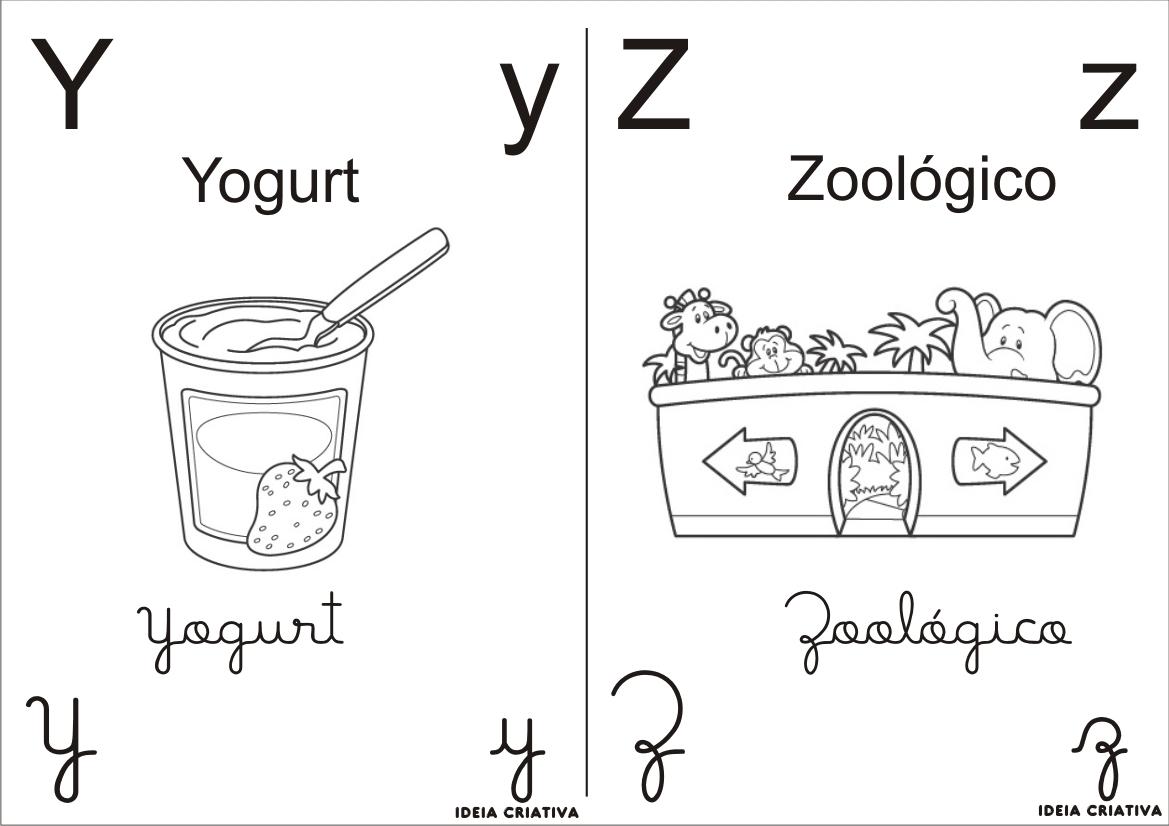 Desenho De Letra Z De Zoológico Para Colorir: Desenho Do Alfabeto Para Colorir