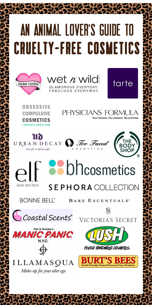 No animal testing.. cruelty free products are the way to go