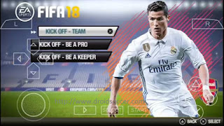 FIFA 18 for Android via PPSSPP v1.06