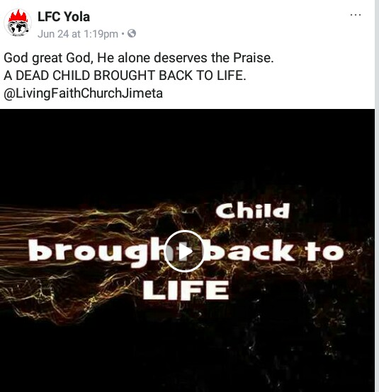 """Woman claims her dead child was raised to life by """"God of Bishop Oyedepo"""" in Adamawa (photos/video)"""
