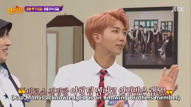 RapMon jadi Member Knowing Brothers Melawan Anggota BTS Lainnya dalam Adu Pengetahuan