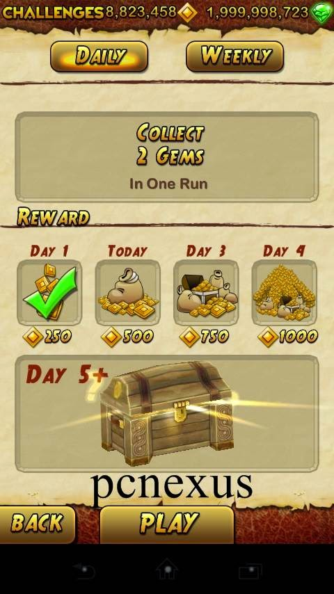 temple run 2 daily challenge unlocked