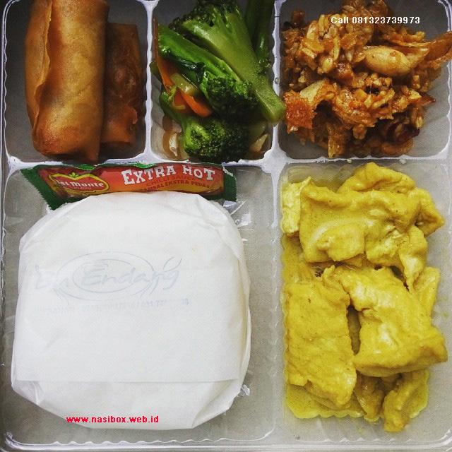 Nasi box vegetarian di ciwidey