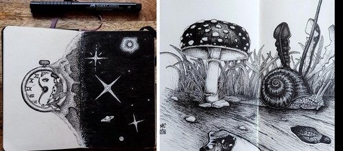 Moleskine Sketches by mrc_artworks