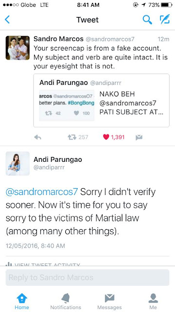 Netizen criticized Sandro Marcos but regrets it immediately! Find out why!