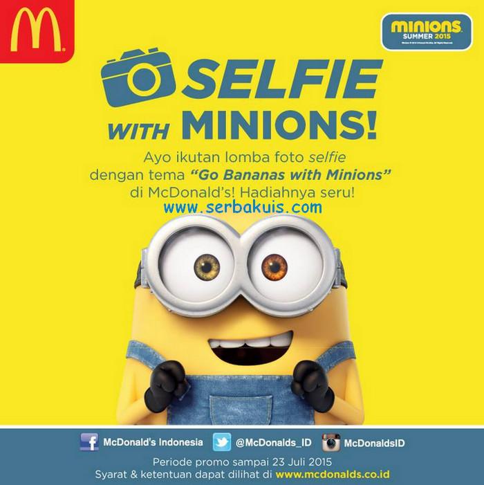 Kontes Selfie Berhadiah Original Merchandise Minions Total 10 Juta