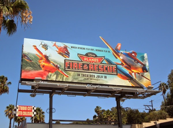 Disney Planes Fire Rescue film billboard