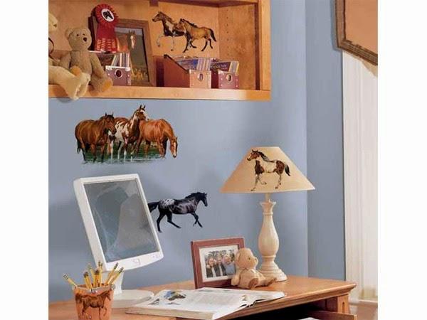 habitación tema caballos