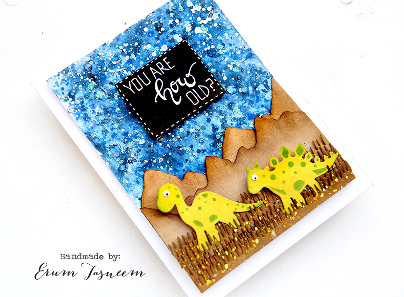Spellbinders Picket Fence Etched Dies and Dinosaurs Etched Dies | Erum Tasneem | @pr0digy0