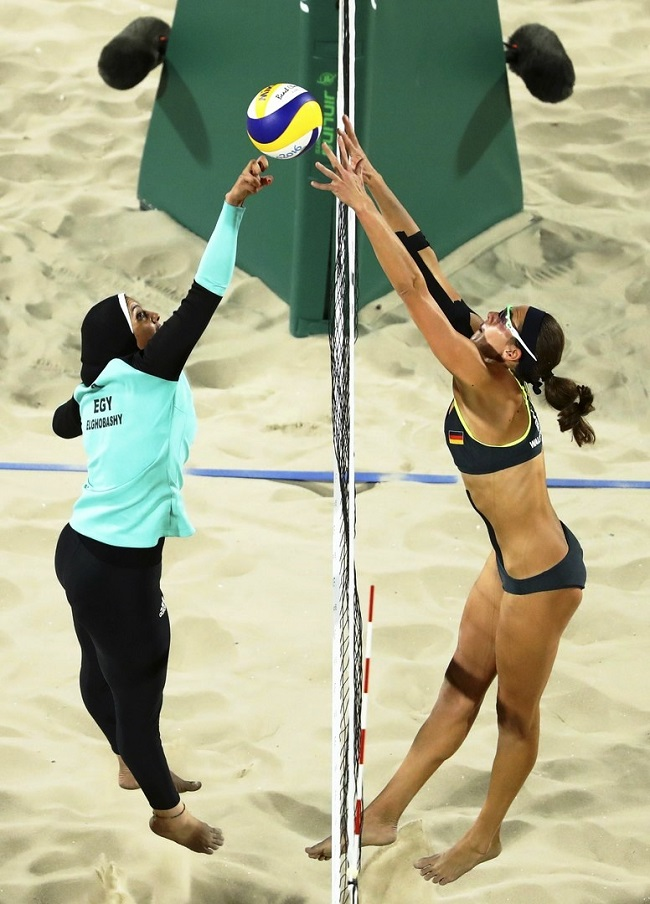 الحجاب والمايوه البكينى وجها لوجه فى الشواطىء واولمبياد ريو دى جانيرو