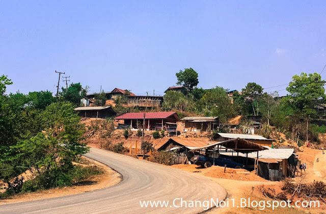 Hmong village in Nan, Thailand