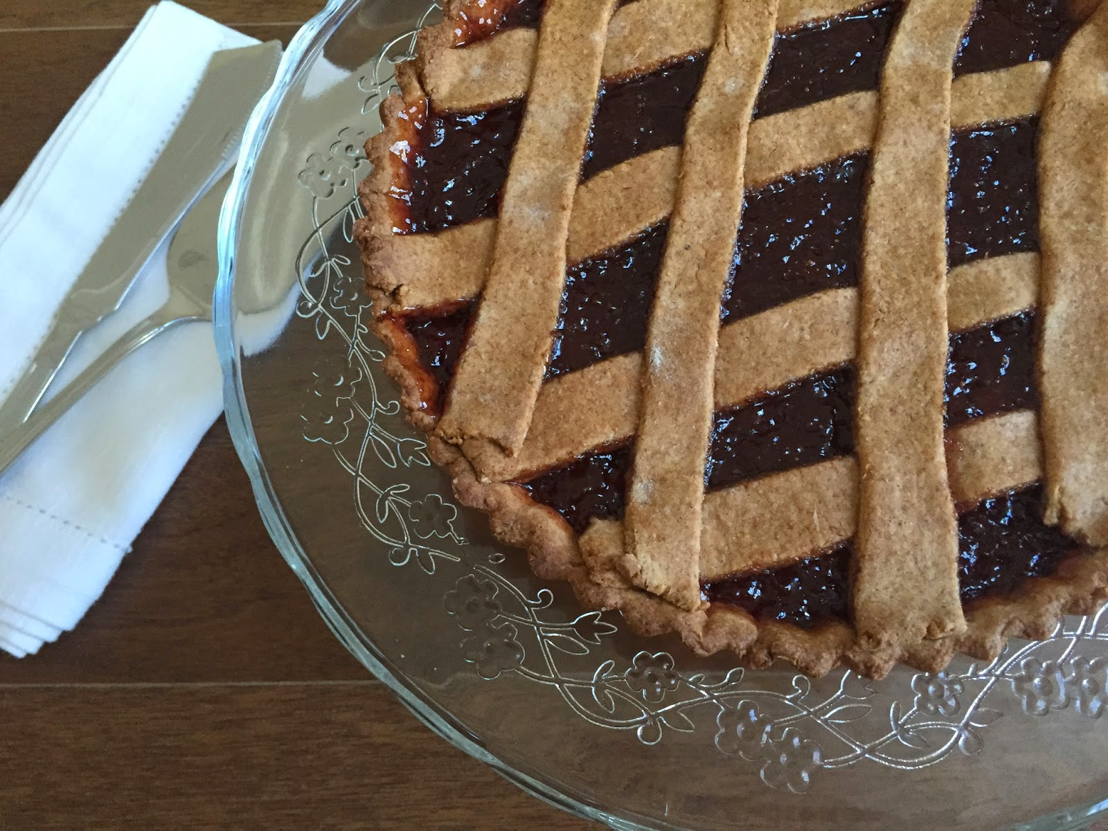 Jam crostata with spelt and olive oil crust