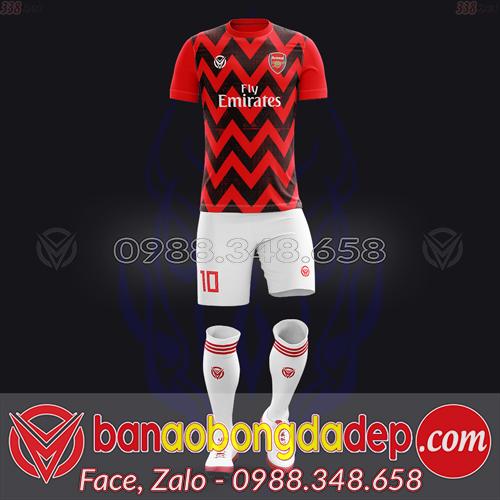 Áo bóng đá CLB Arsenal tự thiết kế đẹp mã ARSENAL-03