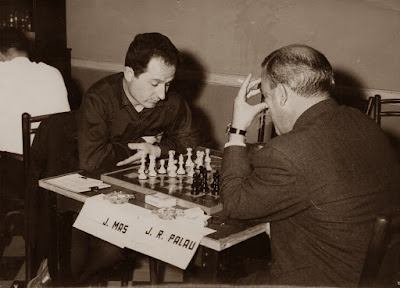 Partida J. Mas - Palau del I Torneo Nacional de Ajedrez de Granollers 1964 (3)