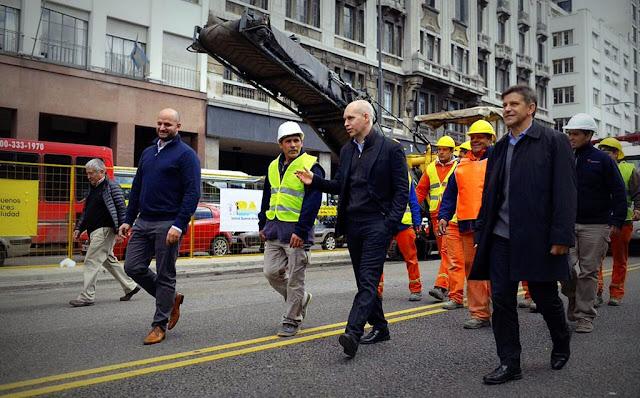 Rodríguez Larreta puso en marcha las obras del Metrobus del Bajo