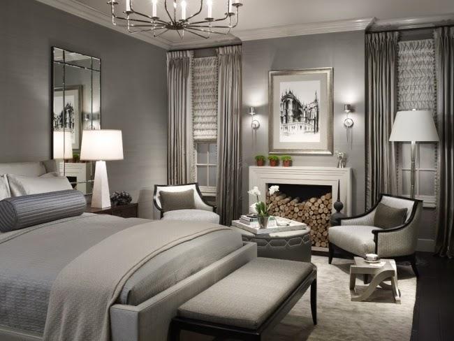 elegante cuarto gris