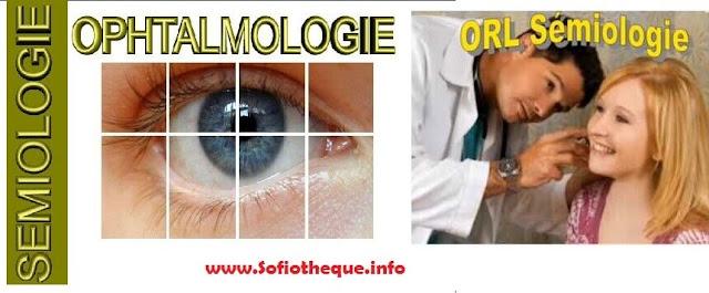 Sémiologie ORL et Ophtalmologie PDF