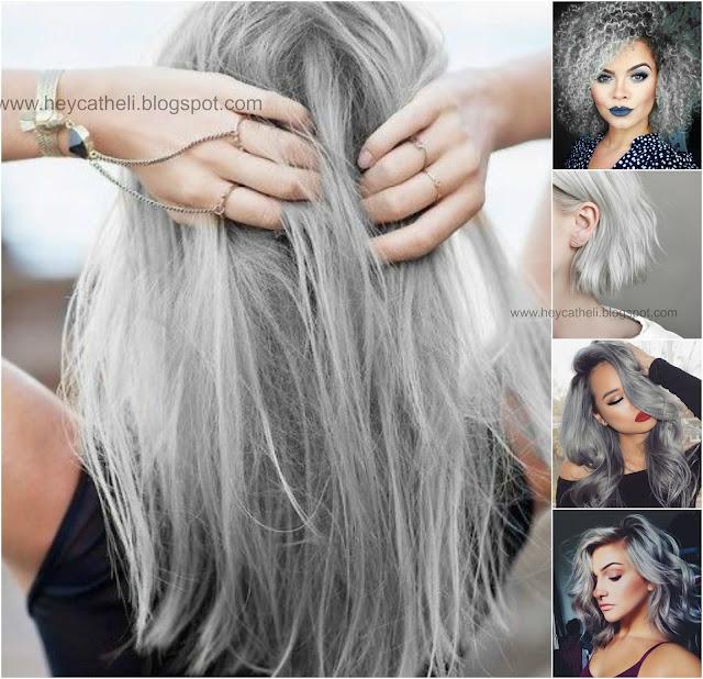 granny hair cabelo cinza