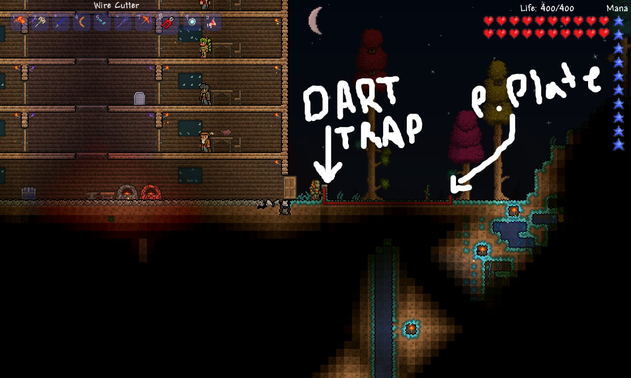 Terraria Traps Grouping And Soloing In Hardmode Why I Game Wiring Guide How To