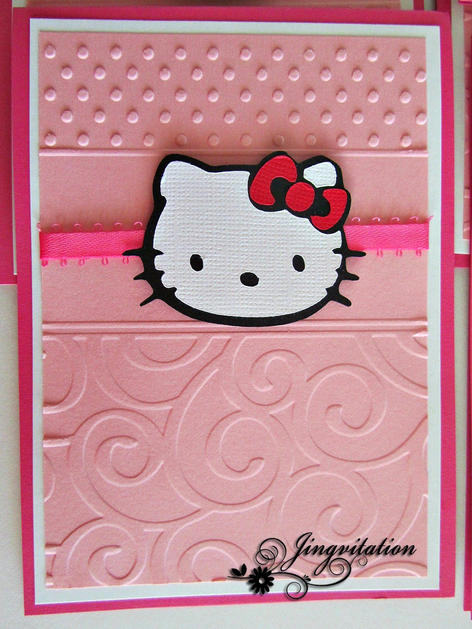 Jingvitations Hello Kitty Birthday Party Invites