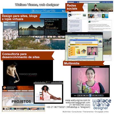 wallace vianna web designer webdesigner autônomo freelancer Rio Janeiro RJ